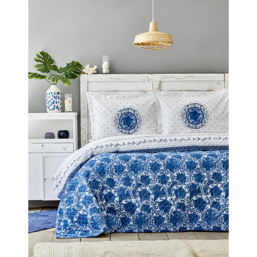 Karaca Home Belina Mavi Çift Kişilik Complete Takım
