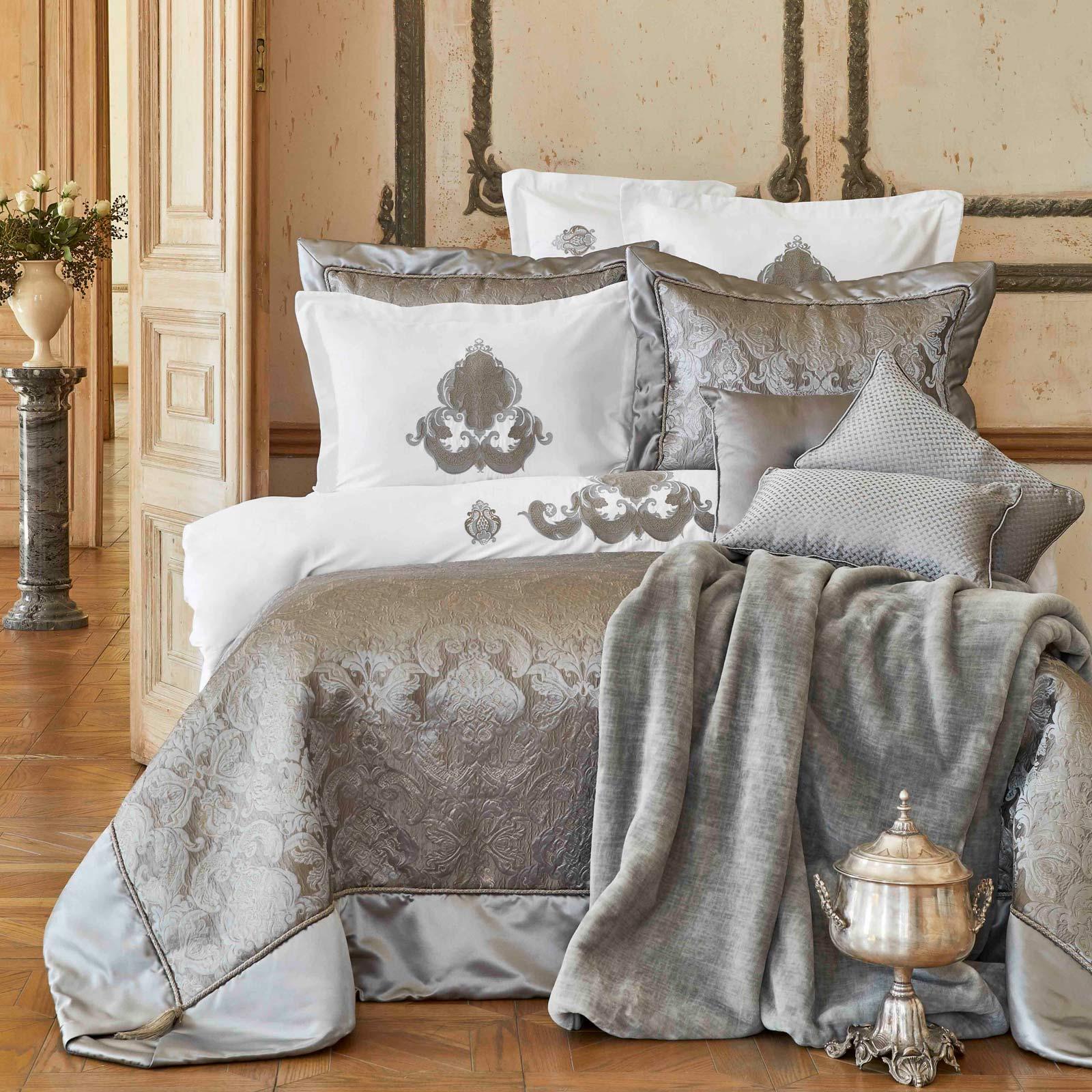 Karaca Home Cornelia Antrasit 6 Parça İpek Private Yatak Örtüsü