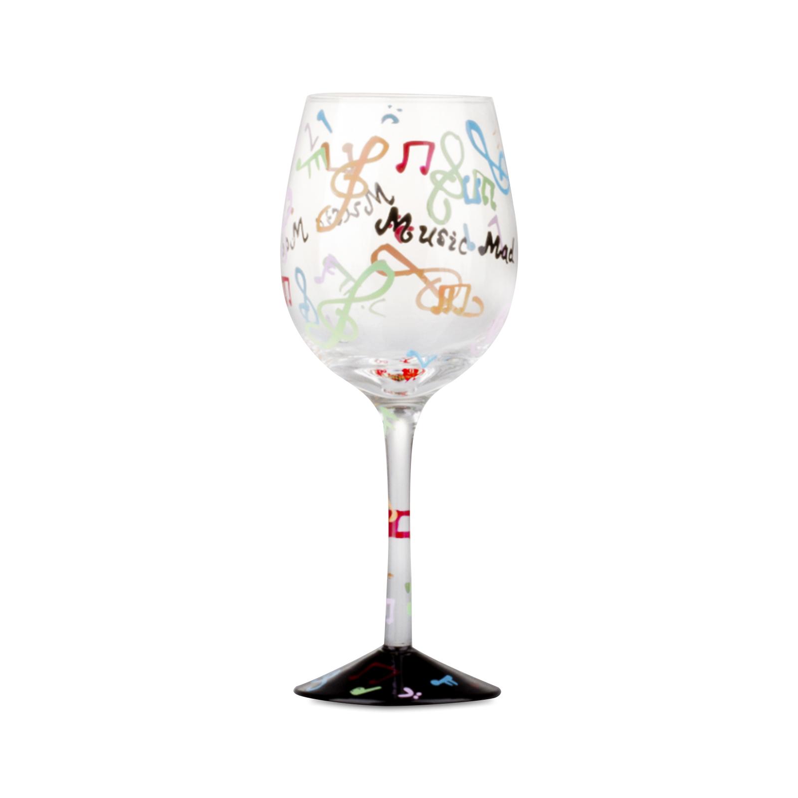 Karaca W130423b şarap Bardak El Boyama Karaca