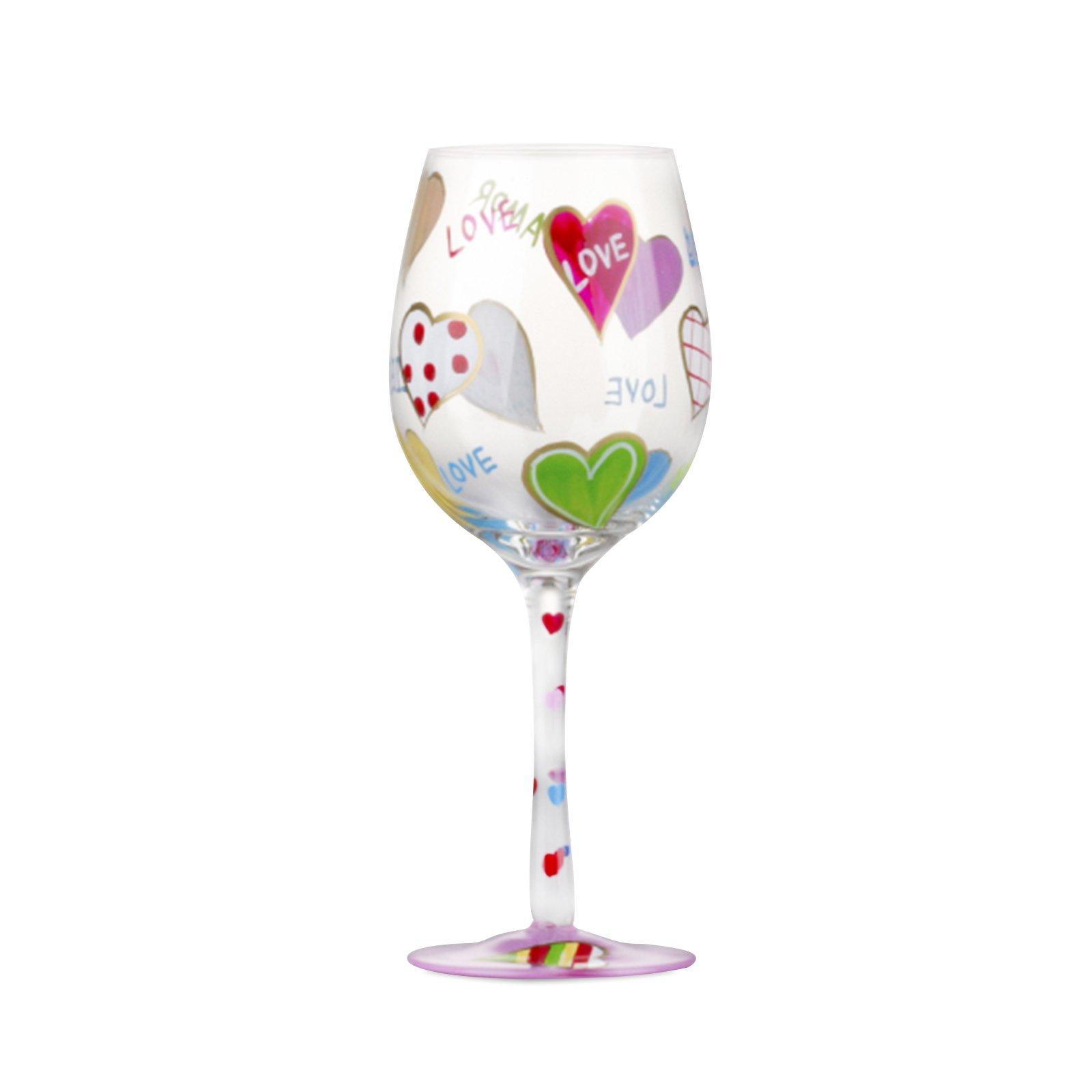 Karaca şarap Bardak El Boyama Karaca