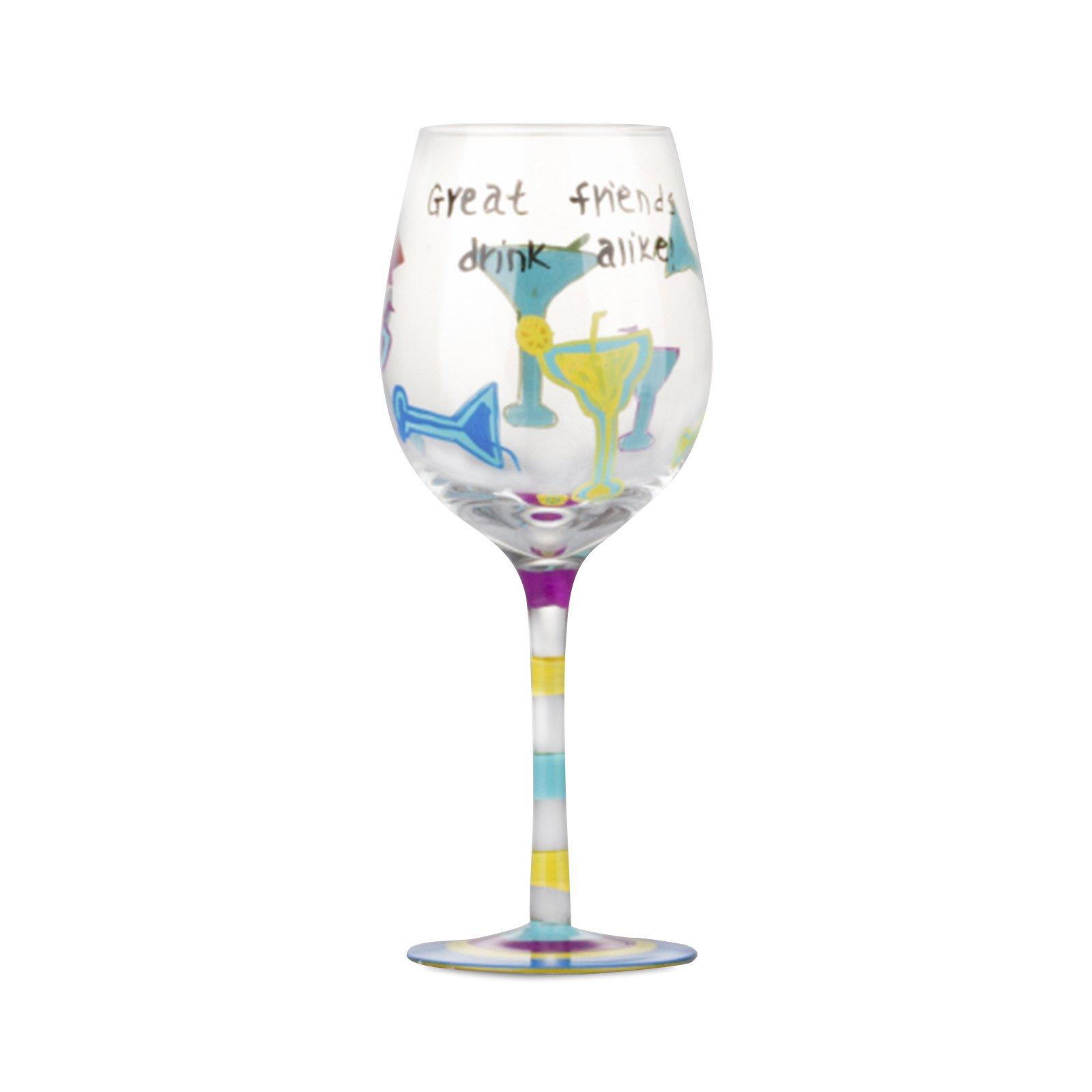Karaca şarap Bardak El Boyama W130449b Karaca